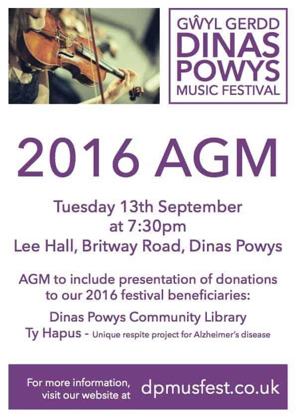 2016 AGM on 13th September